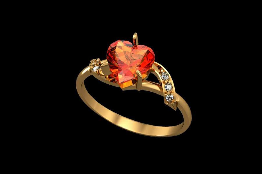 дизайнерские кольца из золота с бриллиантами
