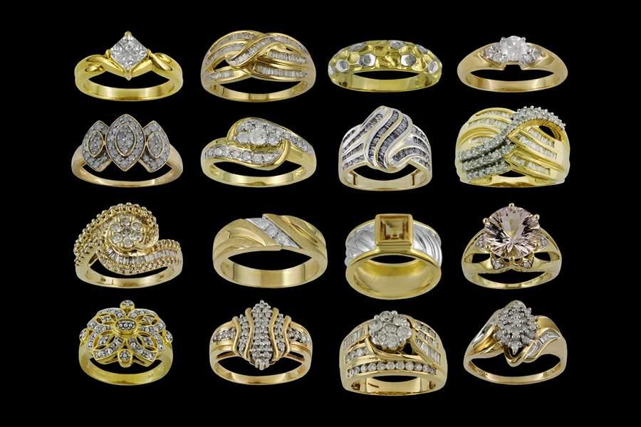 Золотые кольца ручной работы фото 2