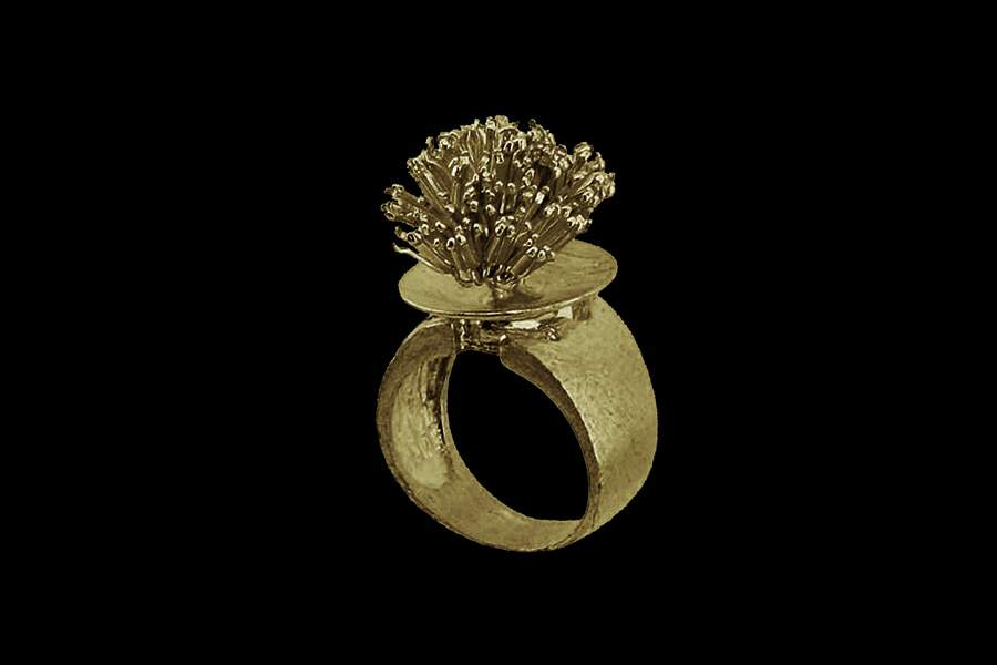 золотые изделия в виде колец